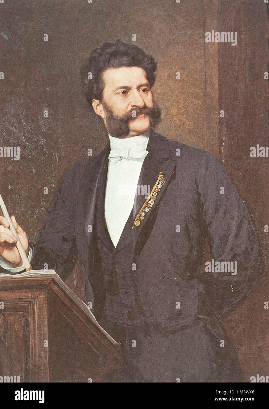 Johann Strauss II by August Eisenmenger 1888 Stock Photo