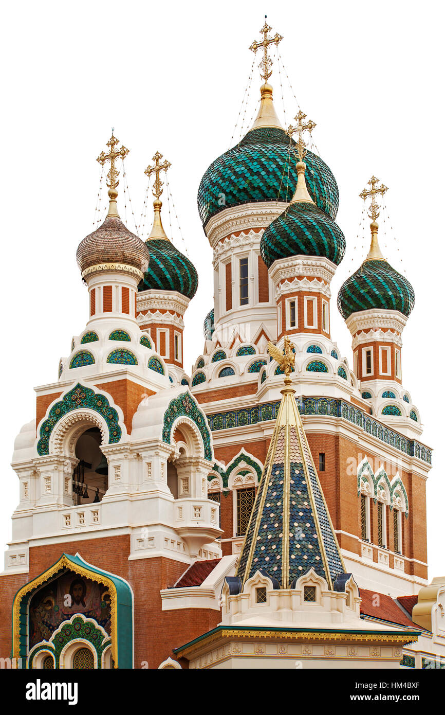 Russian orthodox Cathedral - Nice, France - Stock Image