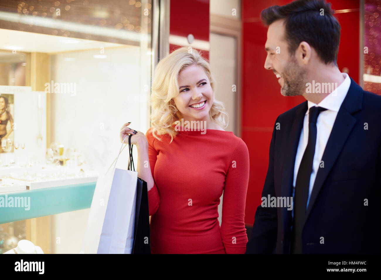 Couple have earned a little relaxation - Stock Image