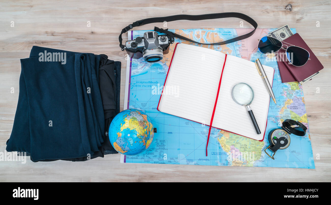 Travel Preparation Compass Money Passport Stock Photos & Travel ...