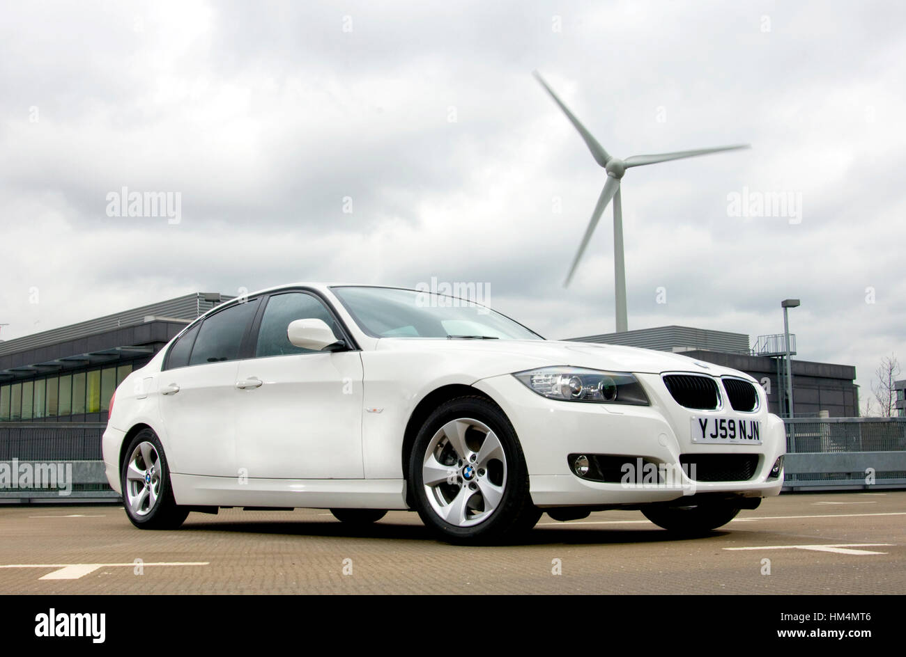 2010 BMW 320d Efficient Dynamics high MPG diesel premium saloon car - Stock Image