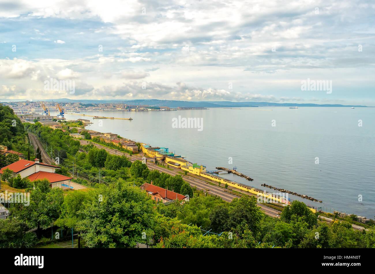 Gulf of Trieste Friuli Venezia Giulia Italy - Stock Image
