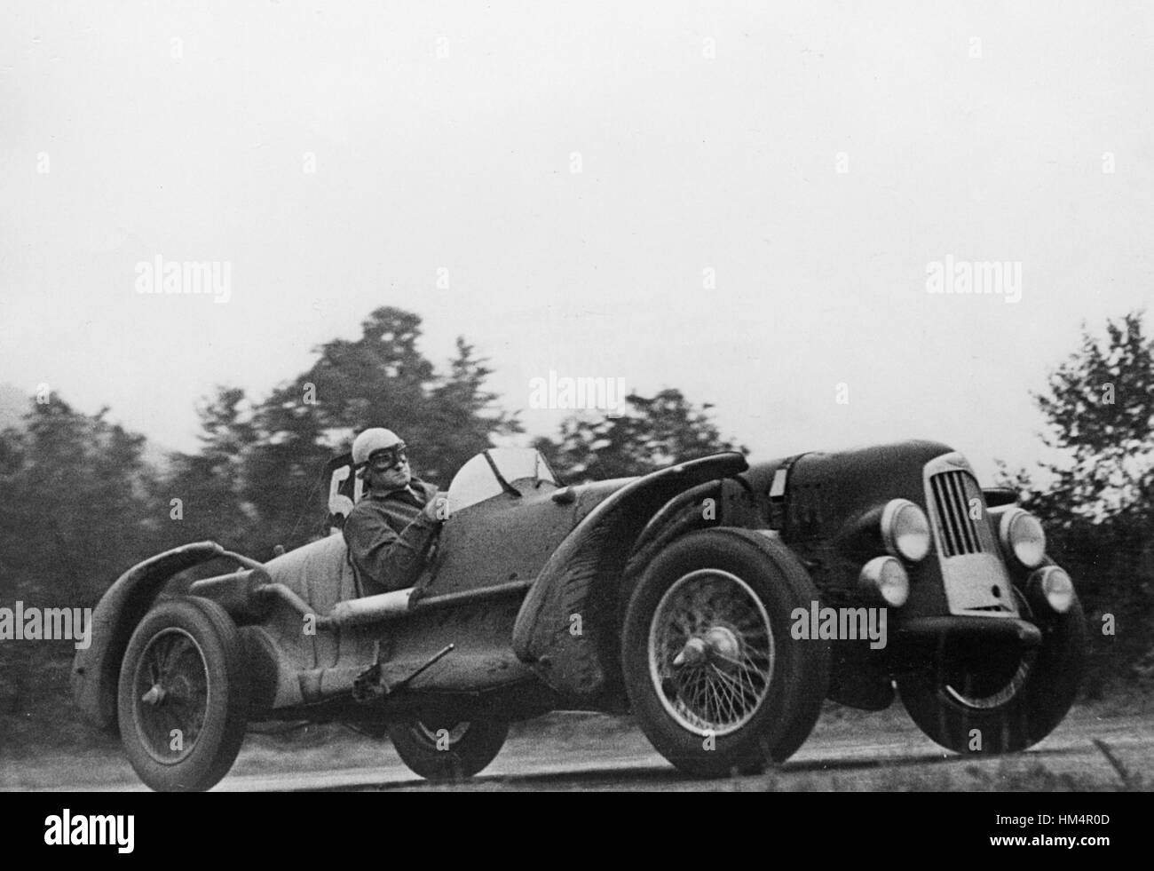 Aston Martin 2 litre DB1 at Spa 1948. Horsfall and Johnson, outright winners. - Stock Image