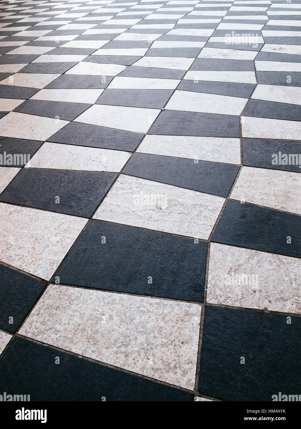 Texture pavement walkway. Place Massena in Nice, France - Stock Image