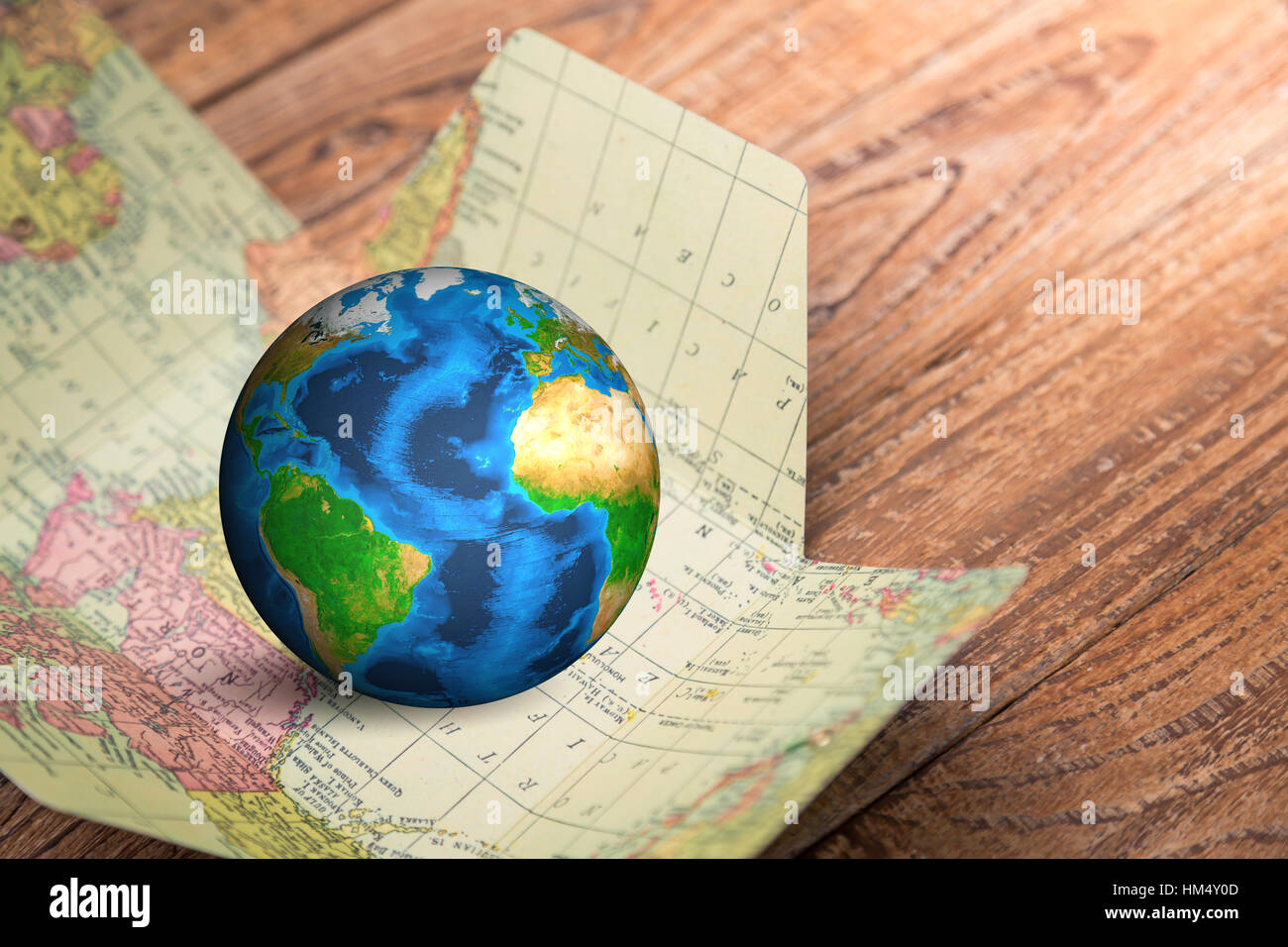 Ball world old map in stock photos ball world old map in stock earth in map on wood background elements of this image furnished by nasa stock image gumiabroncs Image collections