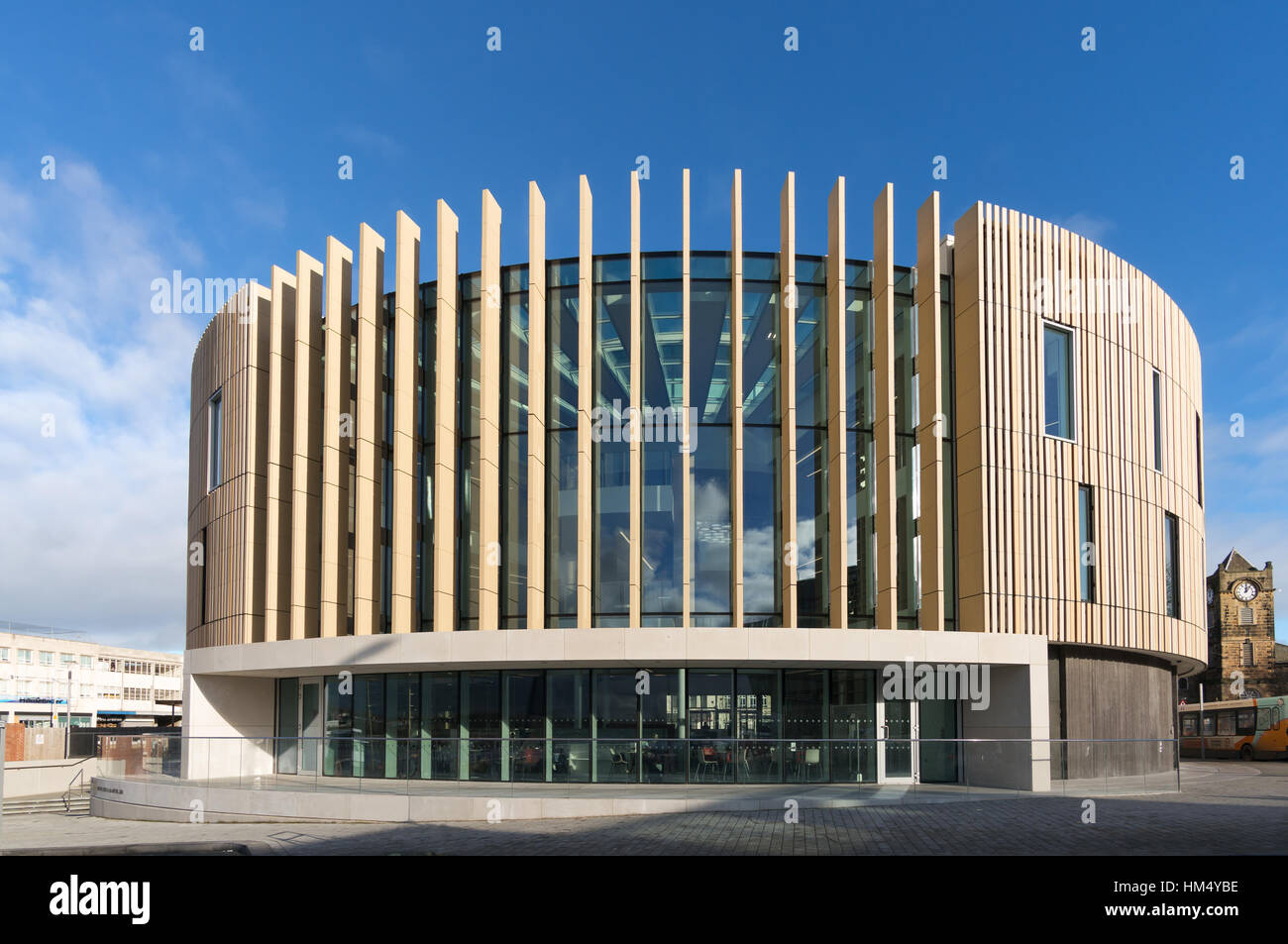 'The Word' building, national centre for the written word, South Shields, South Tyneside, England, UK - Stock Image