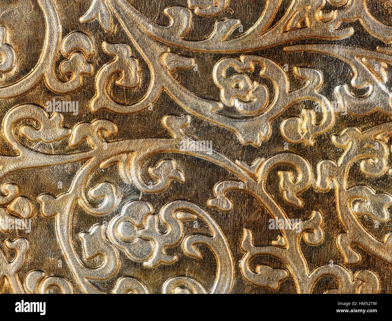 Abstract Texture Of Synthetic Leather Baroque Background