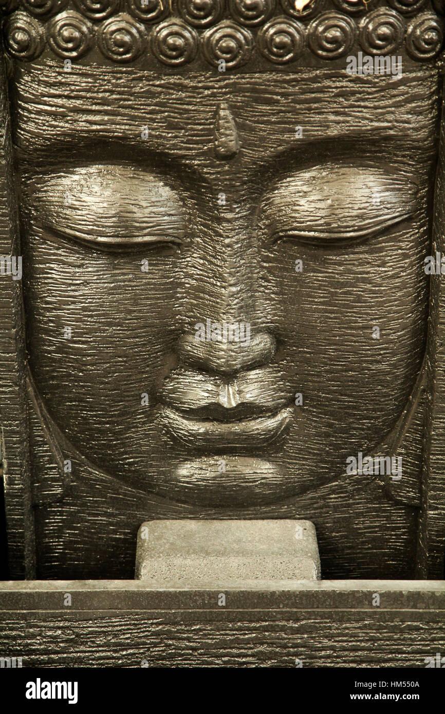 Decorative Fountain Buddha Statue Stock Photo 132879386