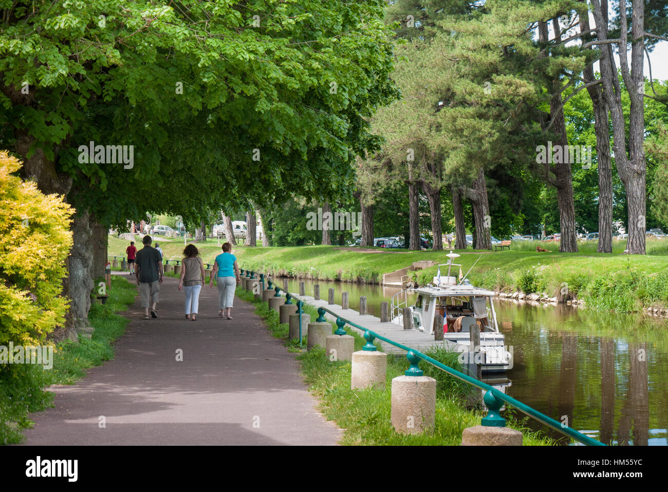 'Nantes Brest canal' Malestroit, Brittany France, - Stock Image