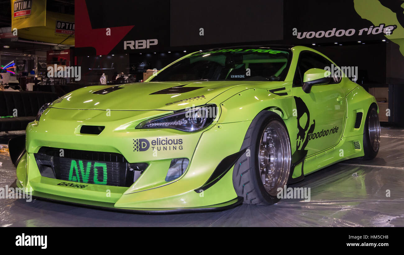 Scion Frs Custom >> Customized Scion Fr S Car At Sema Stock Photo 132885348 Alamy