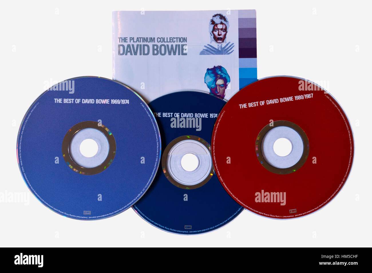 David Bowie The Platinum Collection Music Cds - Stock Image