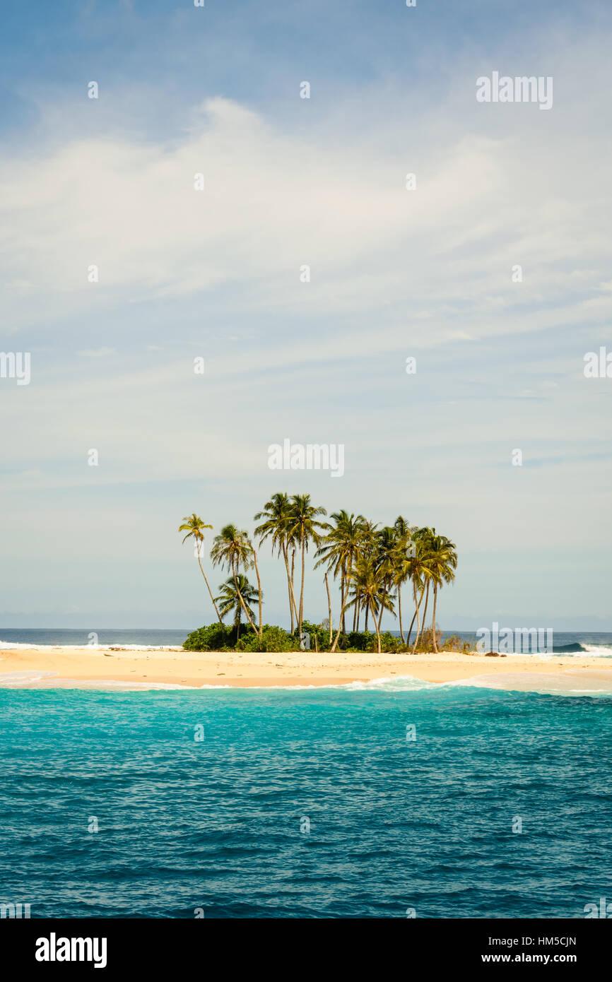 Tiny island, huge beauty - Stock Image