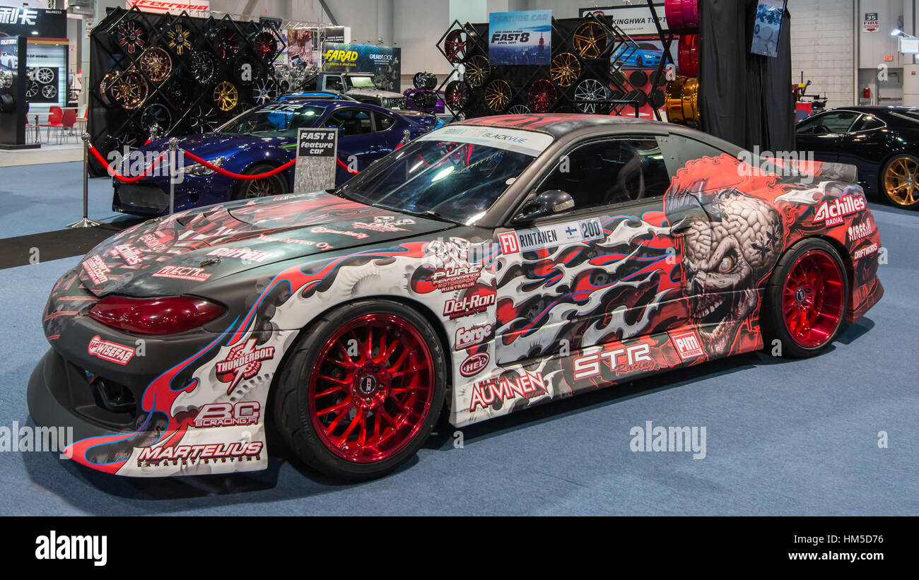Nissan Silvia S15 Race Car At SEMA.   Stock Image