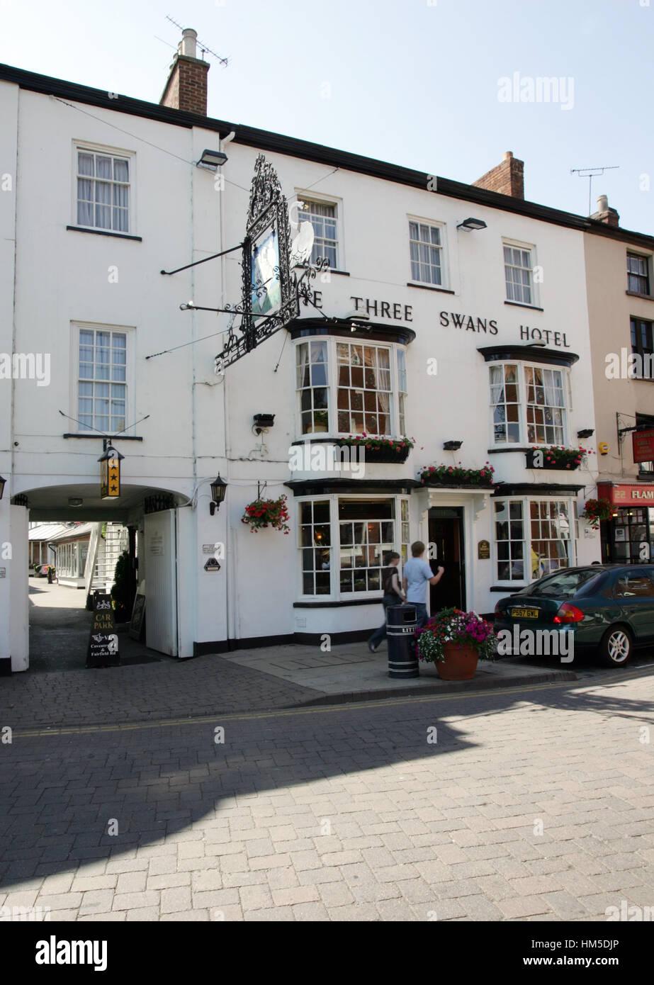 The Three Swans Hotel, Market Harborough - Stock Image