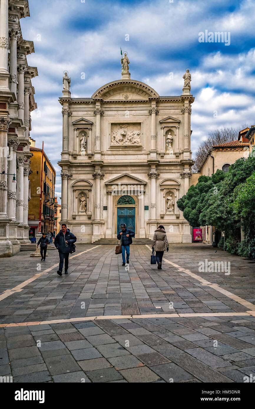 Italy Veneto Venezia Sestiere di S. Polo - Church of S. Rocco - Stock Image