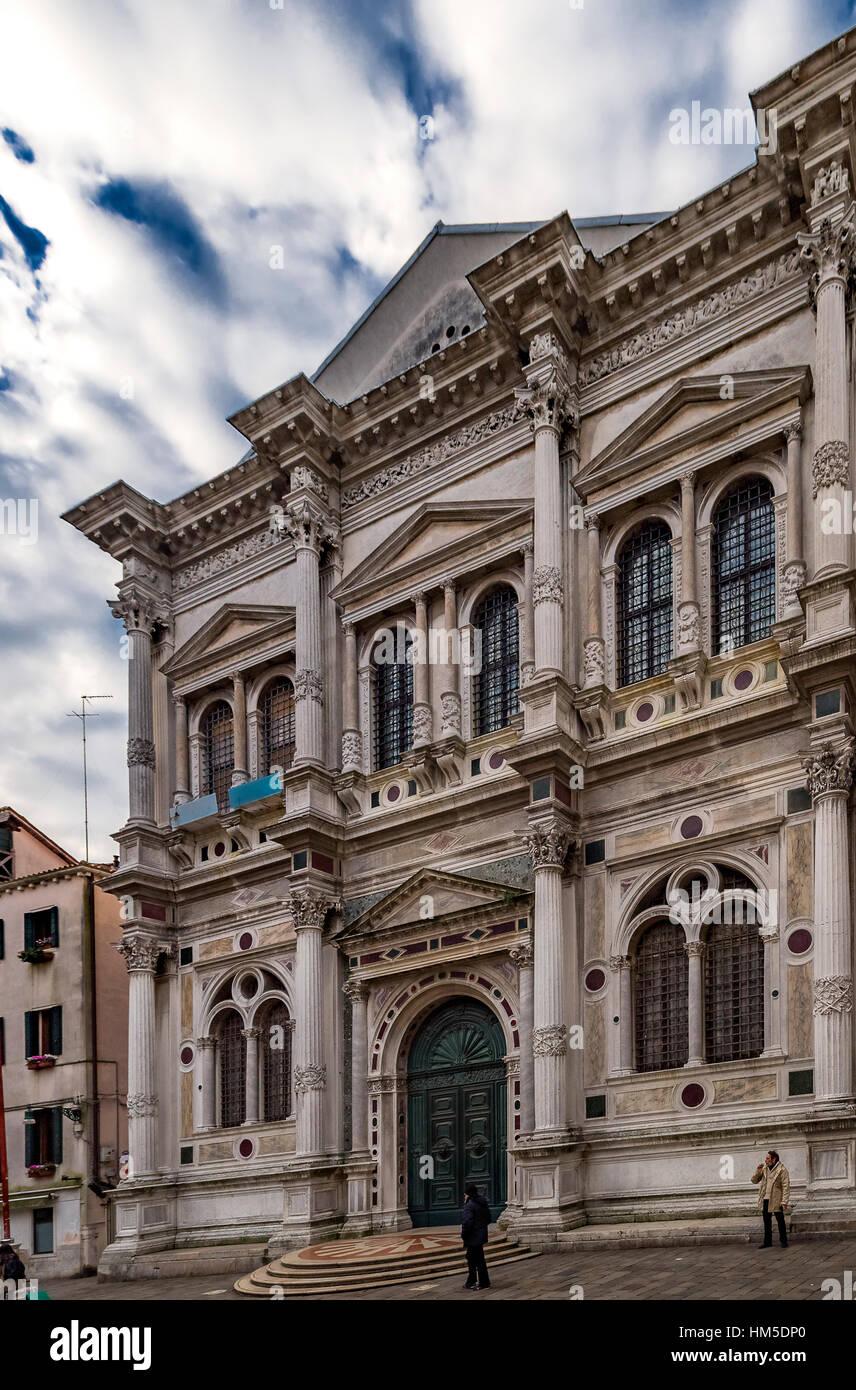 Italy Veneto Venezia Sestiere s. polo, Scuola Grande di san Rocco - Stock Image