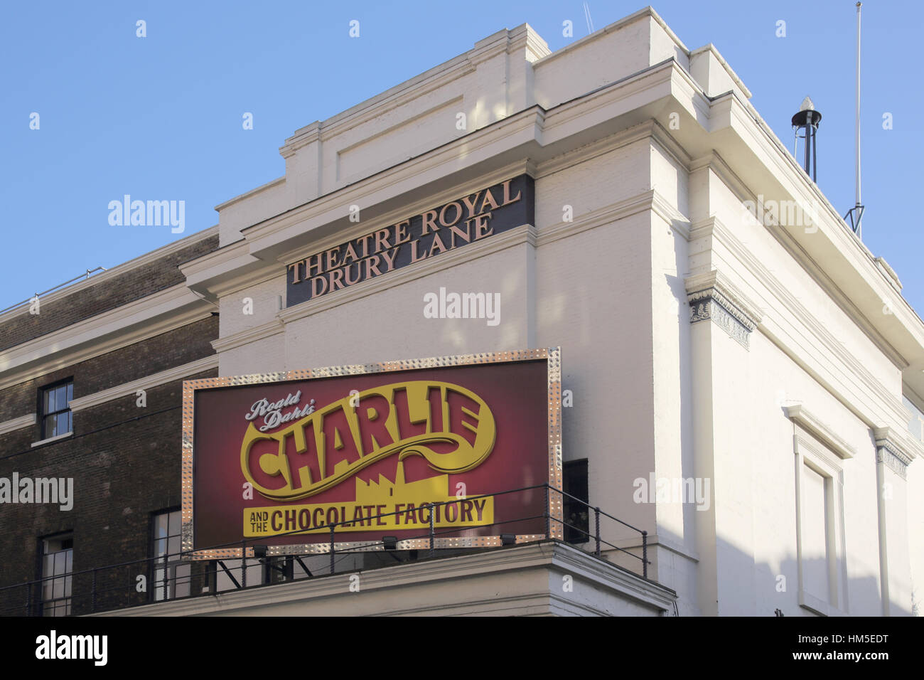 charlie and the chocolate factory theatre royal in drury lane in the west end of london - Stock Image