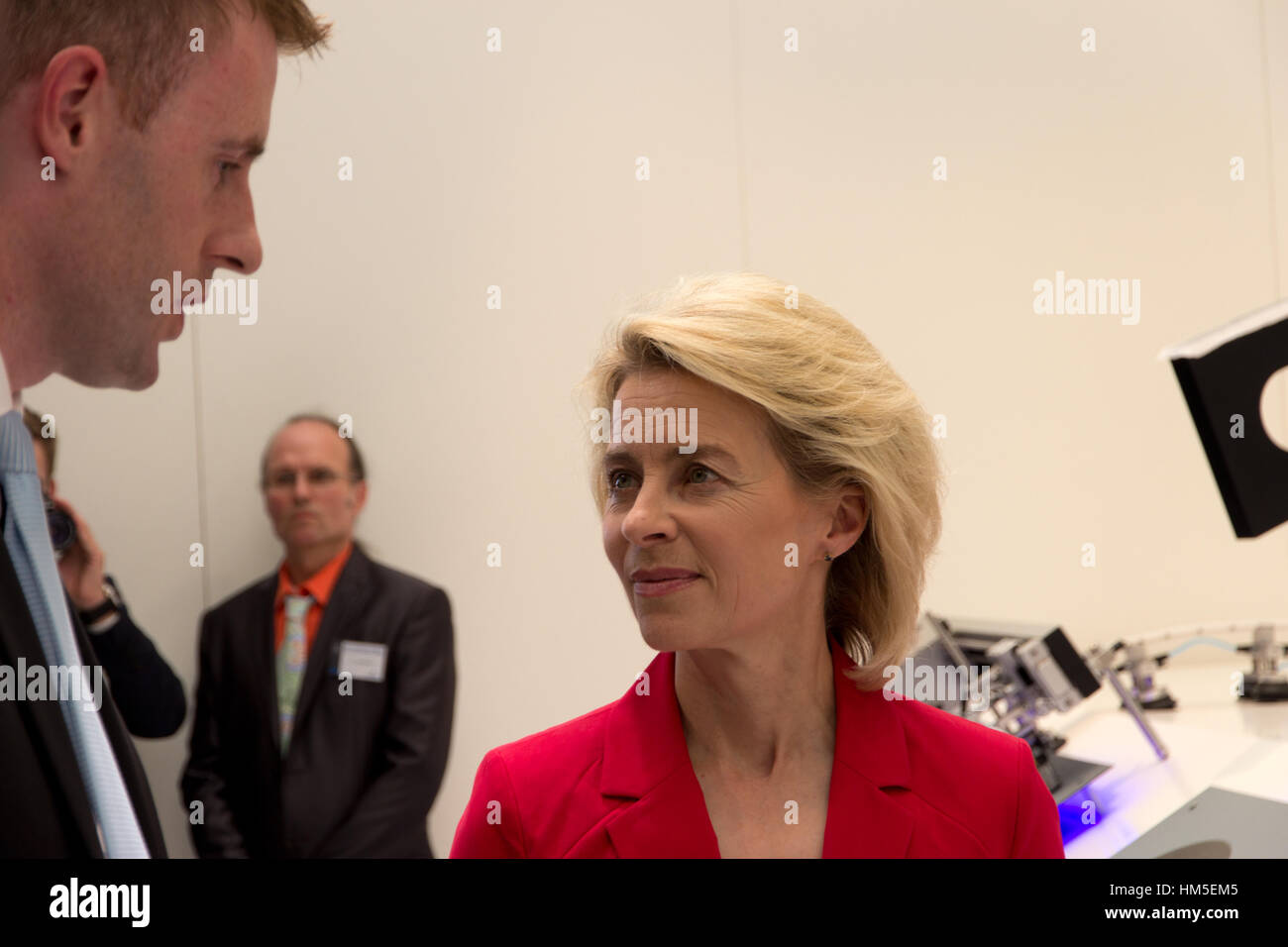 BERLIN, GERMANY - MAY 21: Federal Minister of Defence of Germany, Ursula von der Leyen at the International Aerospace - Stock Image