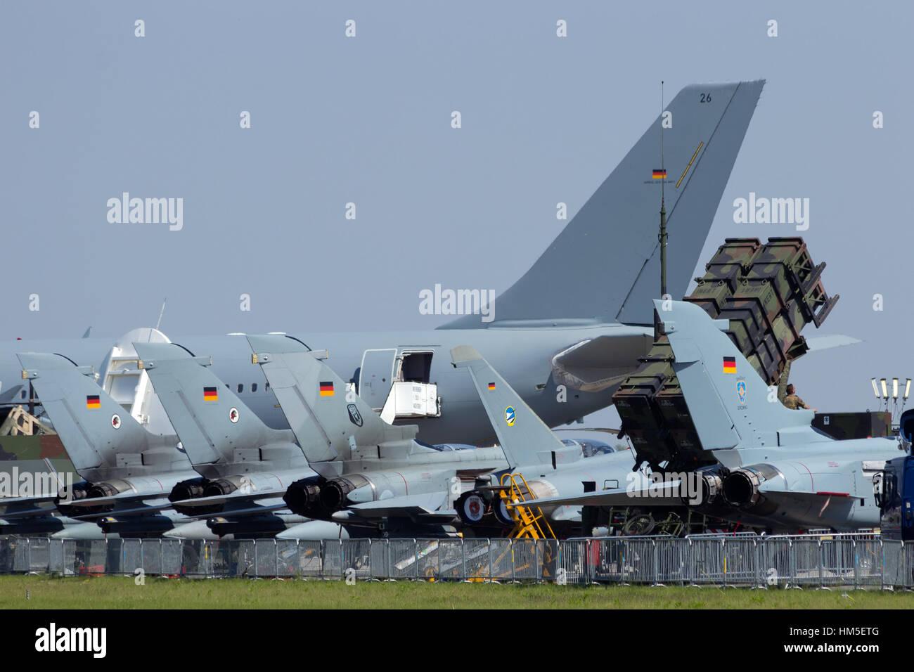 BERLIN, GERMANY MAY 22: German Air Force planes at the