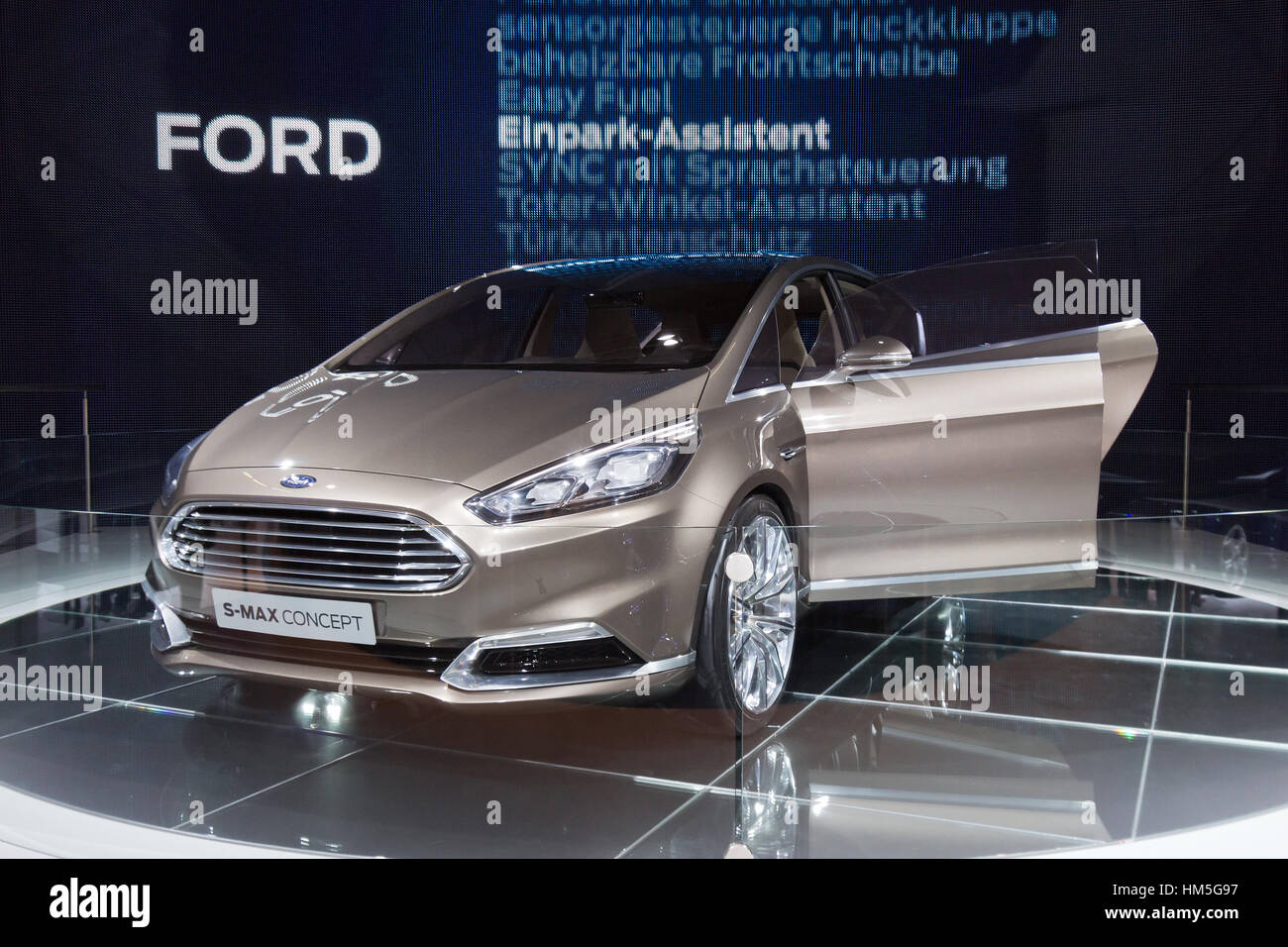 FRANKFURT, GERMANY - SEP 13: Ford S-Max Concept at the IAA motor show on Sep 13, 2013 in Frankfurt. More than 1.000 - Stock Image