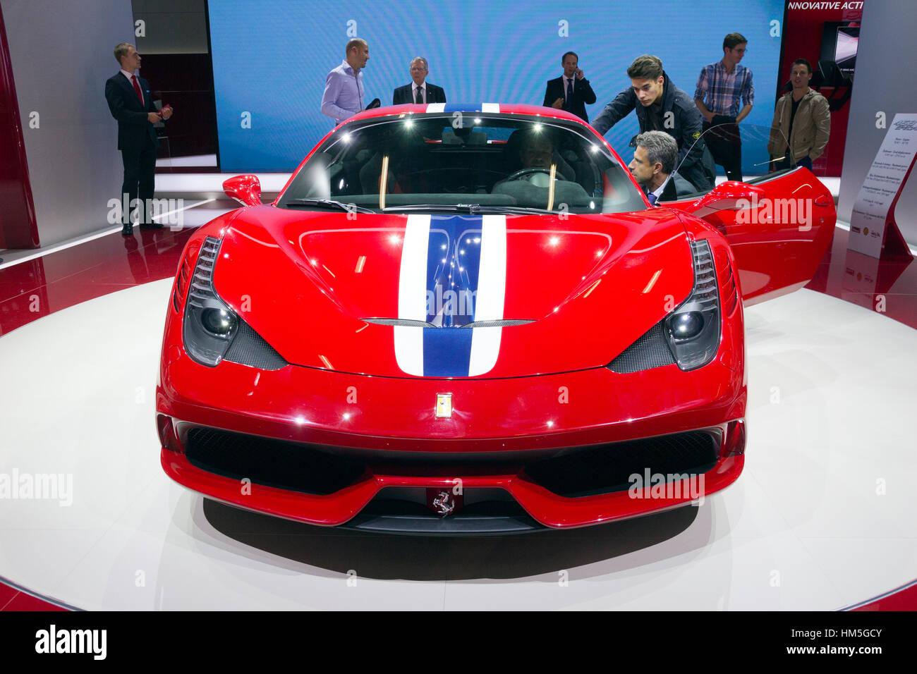 FRANKFURT, GERMANY   SEP 13: New Ferrari 458 Speciale At The IAA Motor Show