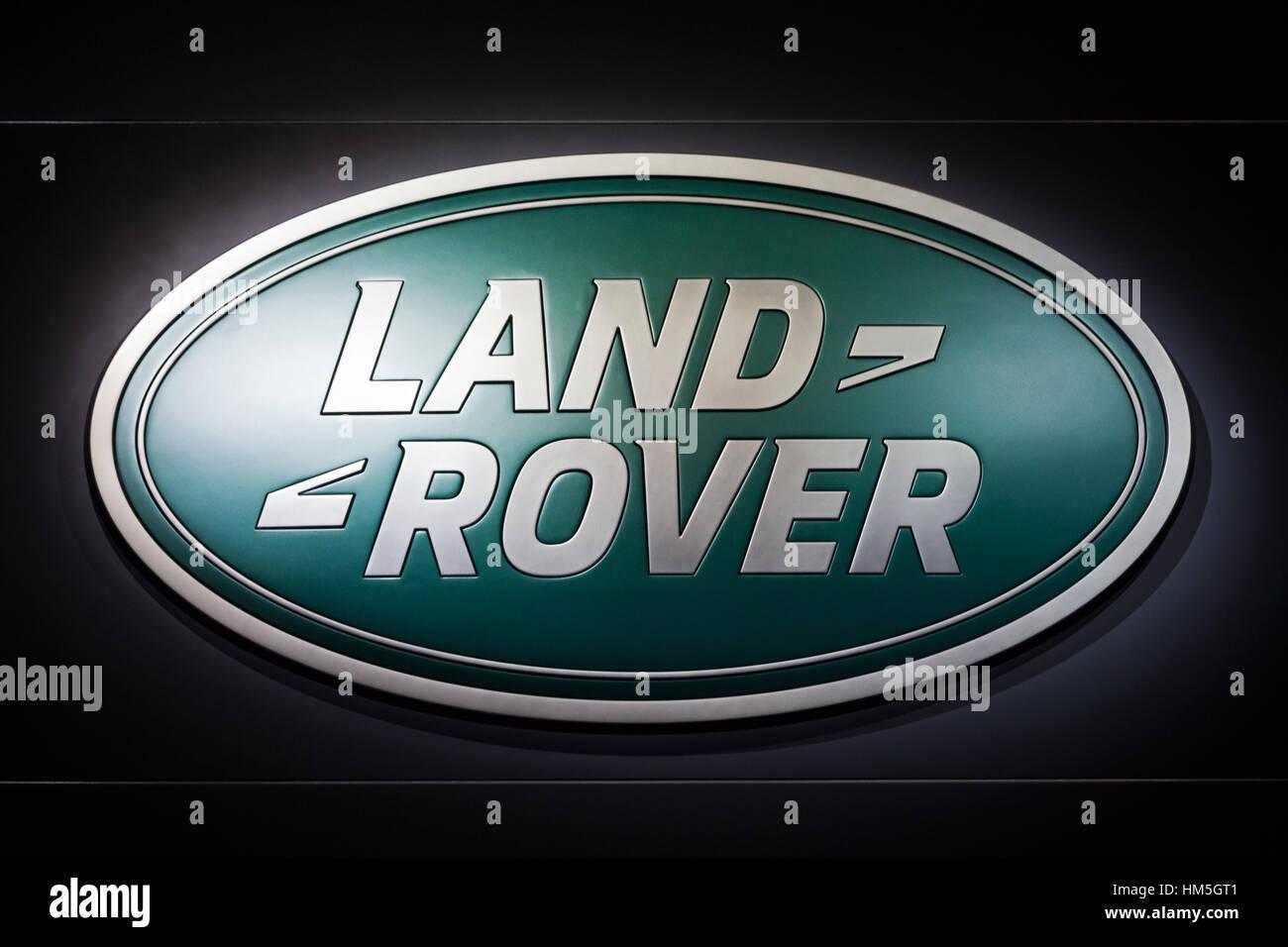 Frankfurt Germany Sep 20 Land Rover Symbol At The Iaa Motor Show