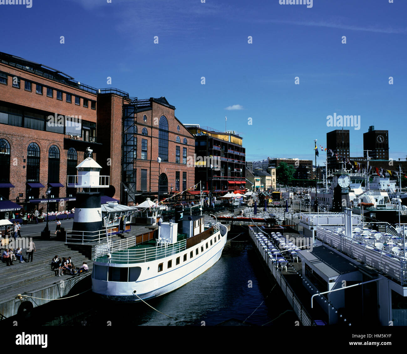 Oslo inner harbour, Norway - Stock Image