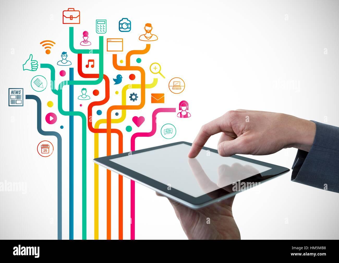 Businessperson using digital tablet - Stock Image