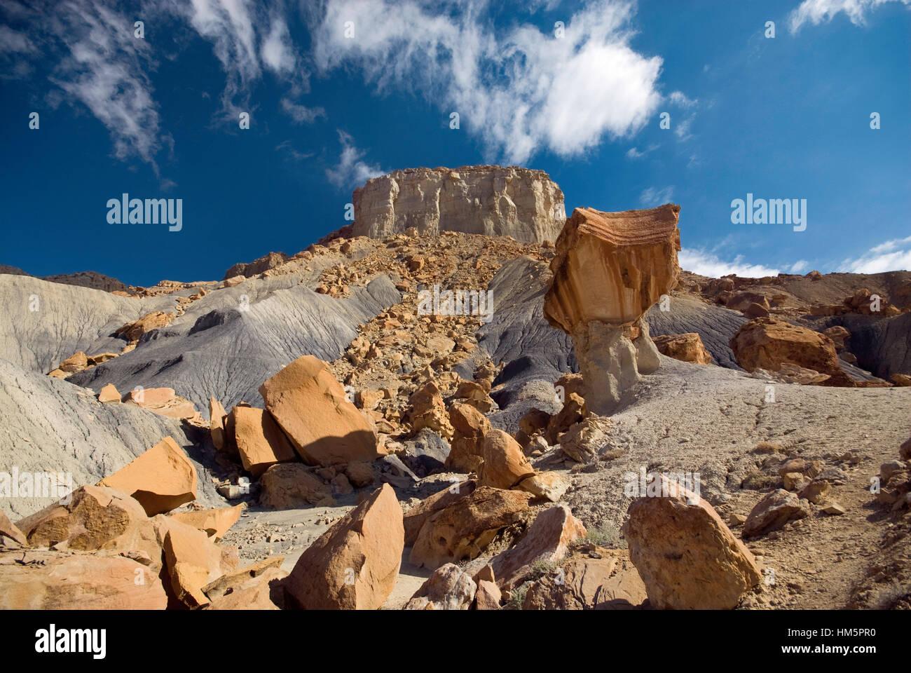 Nipple Bench massif at Staircase-Escalante Nat Monument from Smoky Mountain Road near Lake Powell, Glen Canyon Area, Stock Photo