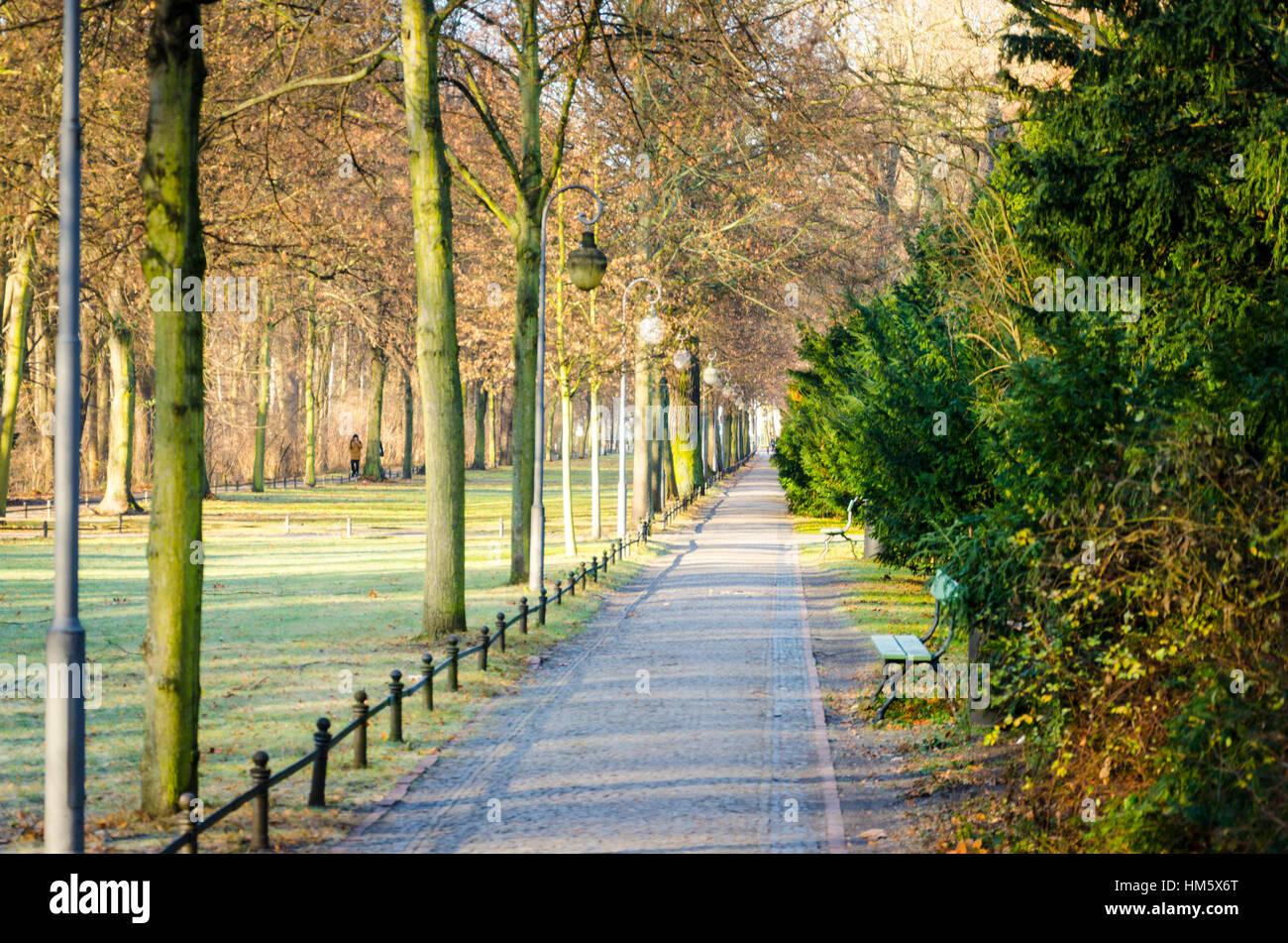 Tiergarten, central city garden in Berlin, Germany - Stock Image