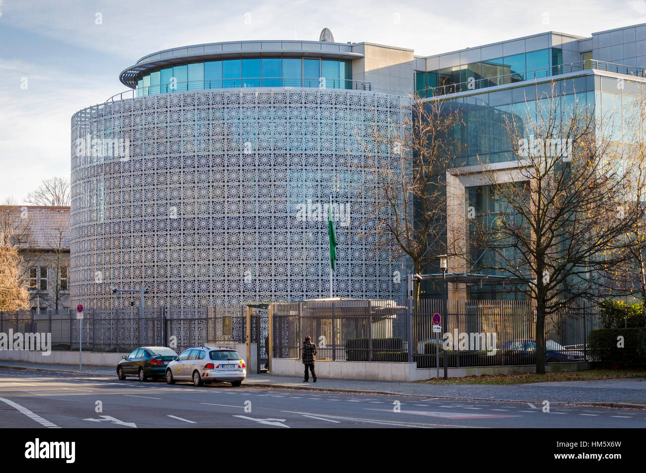 Embassy of the Kingdom of Saudi Arabia in Germany, Tiergartenstrasse, Berlin, Germany - Stock Image