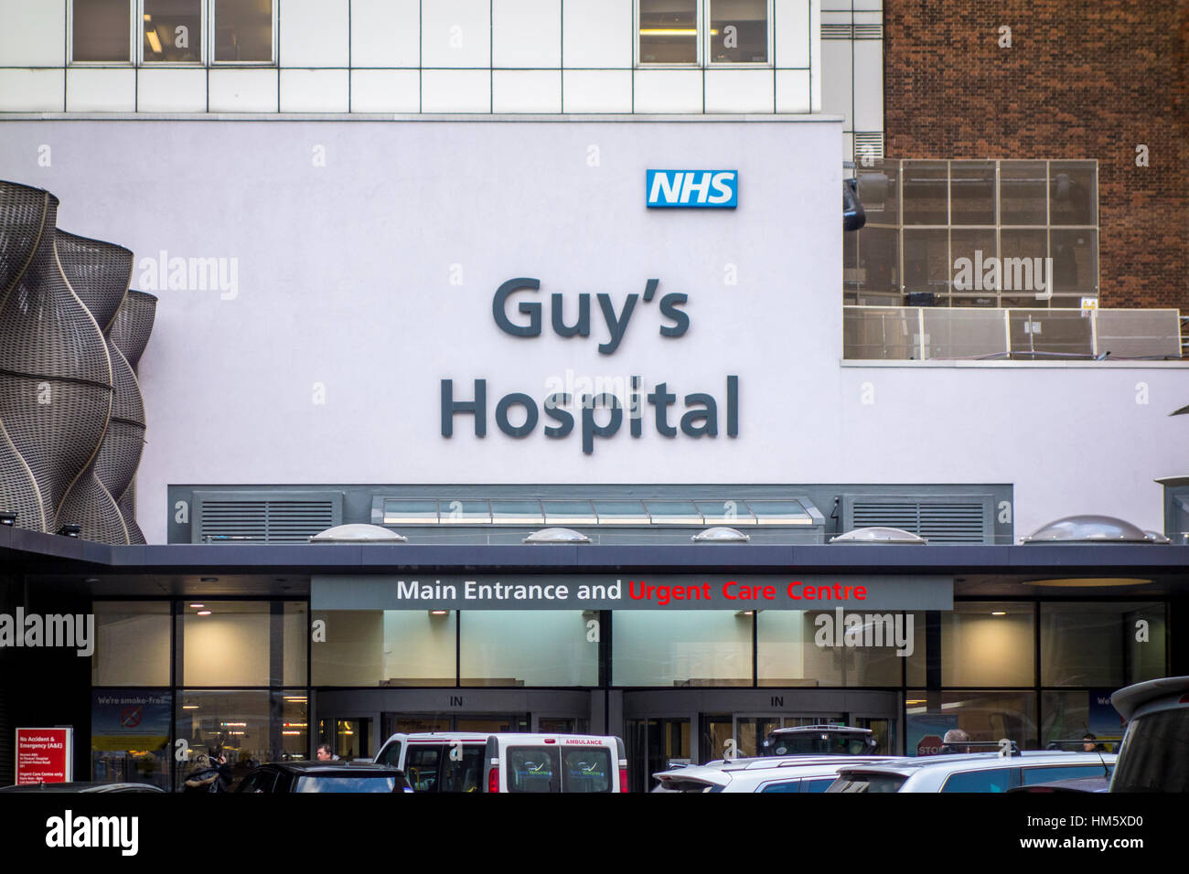 Guy's Hospital NHS, main entrance, London, UK - Stock Image