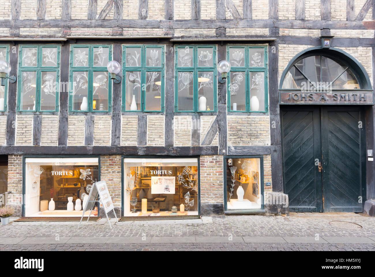Wood framed historic Copenhagen, Denmark - Stock Image