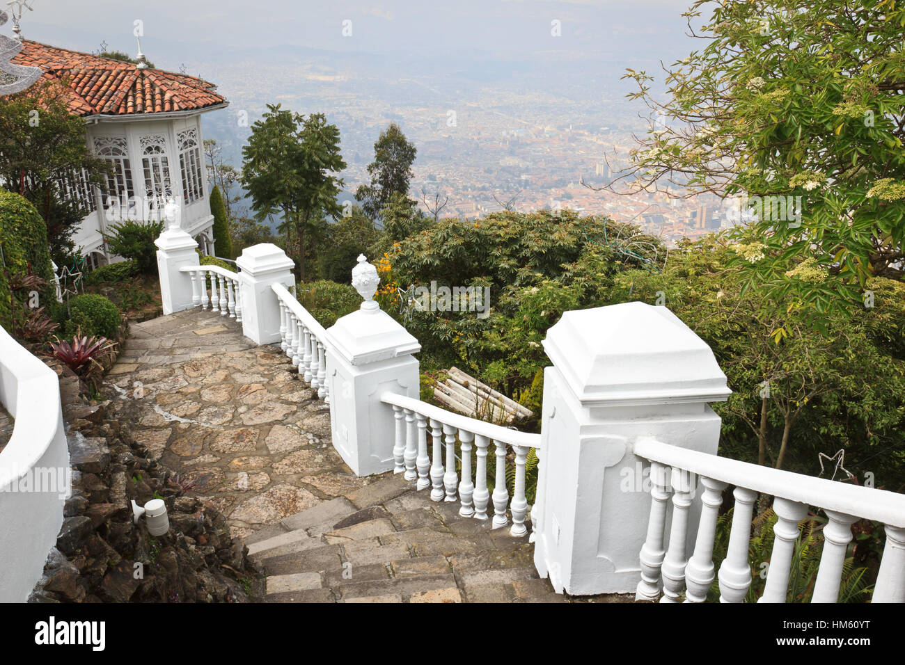 View from Montserrate to Bogota, Colombia, Bogota - Stock Image