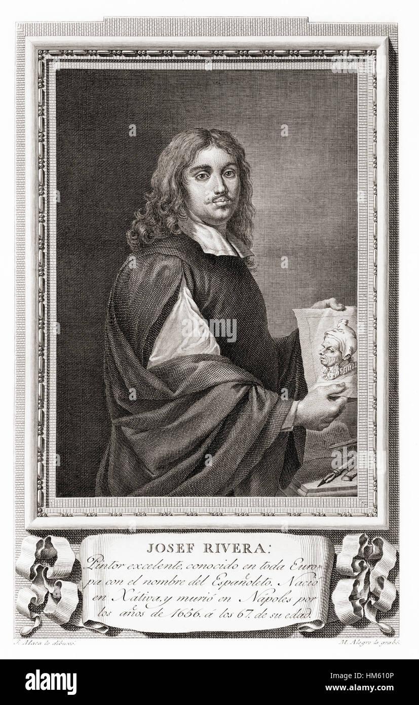 Jusepe de Ribera, aka  José de Ribera, Josep de Ribera aka Lo Spagnoletto 'the Little Spaniard', 1591 - Stock Image