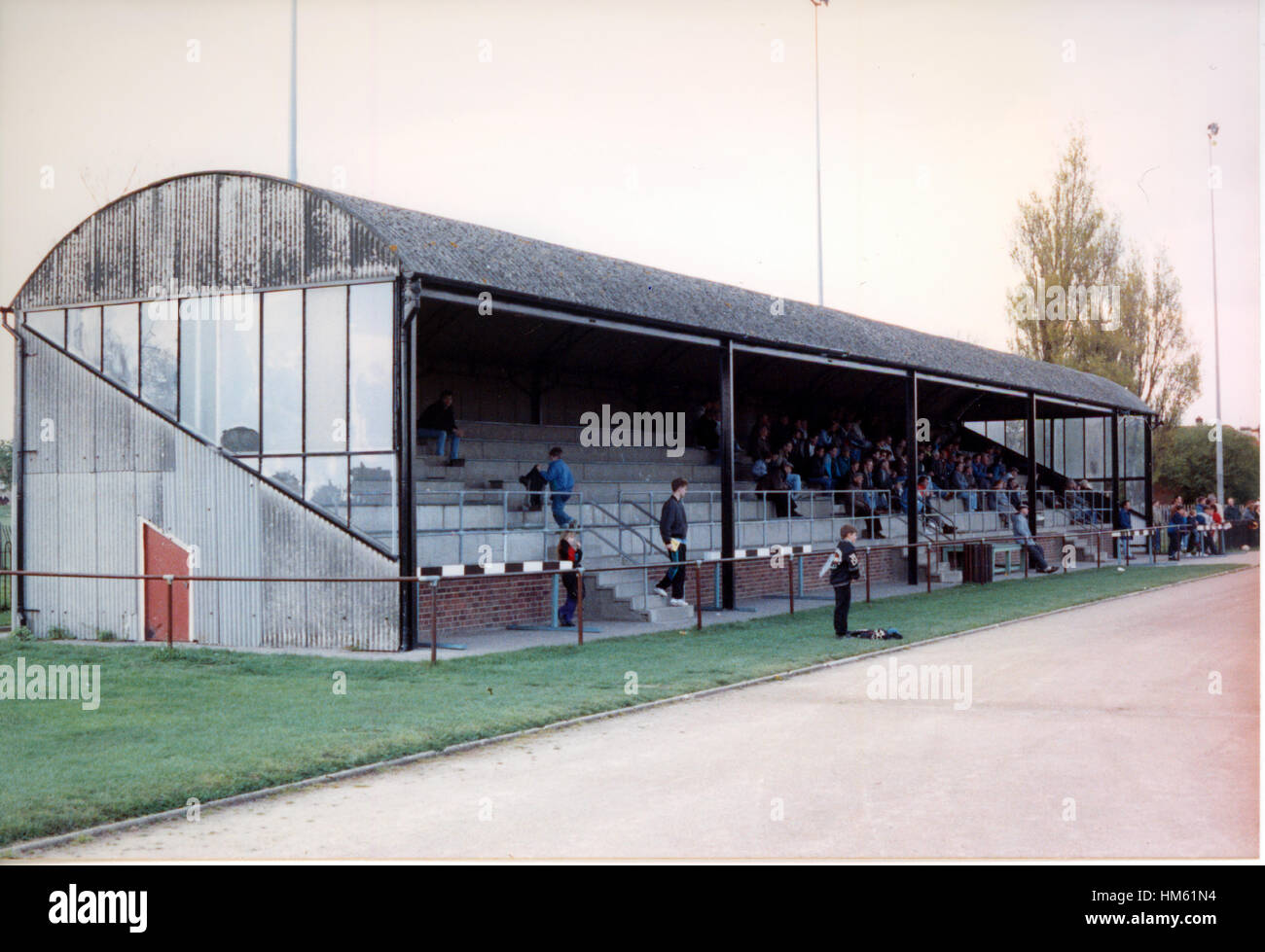 Southchurch Park Arena, home to Southend Manor Football Club (Essex), pictured in 1992 Stock Photo