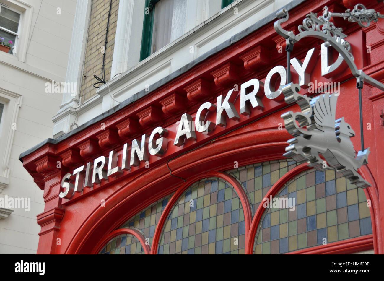 Sterling Ackroyd estate agent sign, London, UK - Stock Image