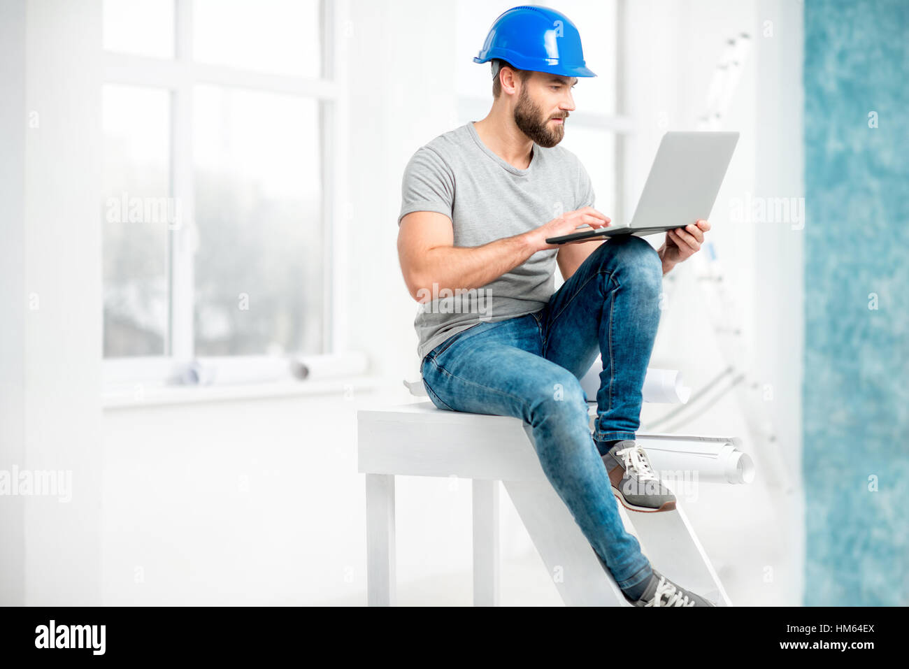 Builder or repairman portrait Stock Photo