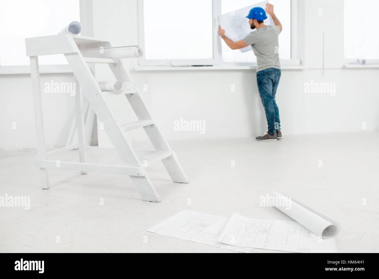 White interior for renovation Stock Photo