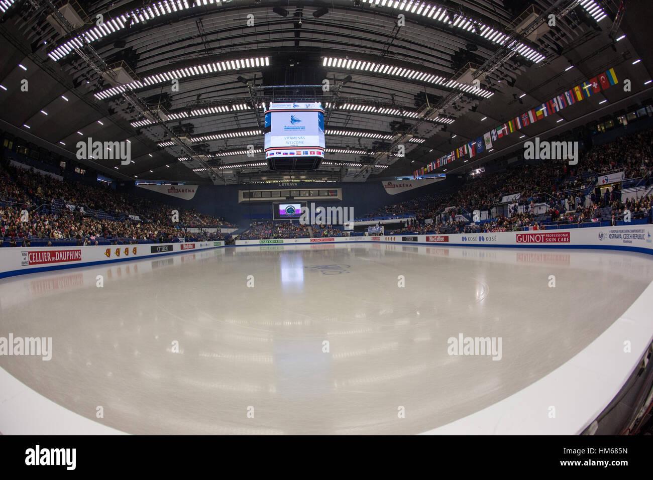 Ostrava Arena, ostrava, led, divaci - Stock Image