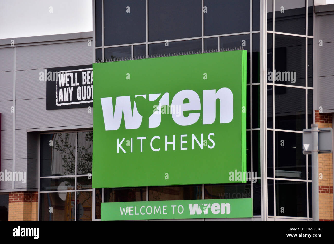 Wren Kitchens superstore at Staples Corner Retail Park, London, UK - Stock Image