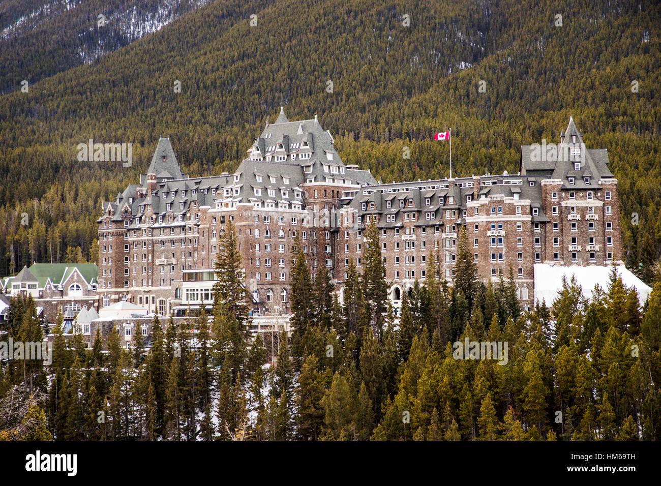 Historic Fairmont Banff Springs hotel; c 1888; Banff; Alberta; Canada 'Castle in the Rockies' - Stock Image