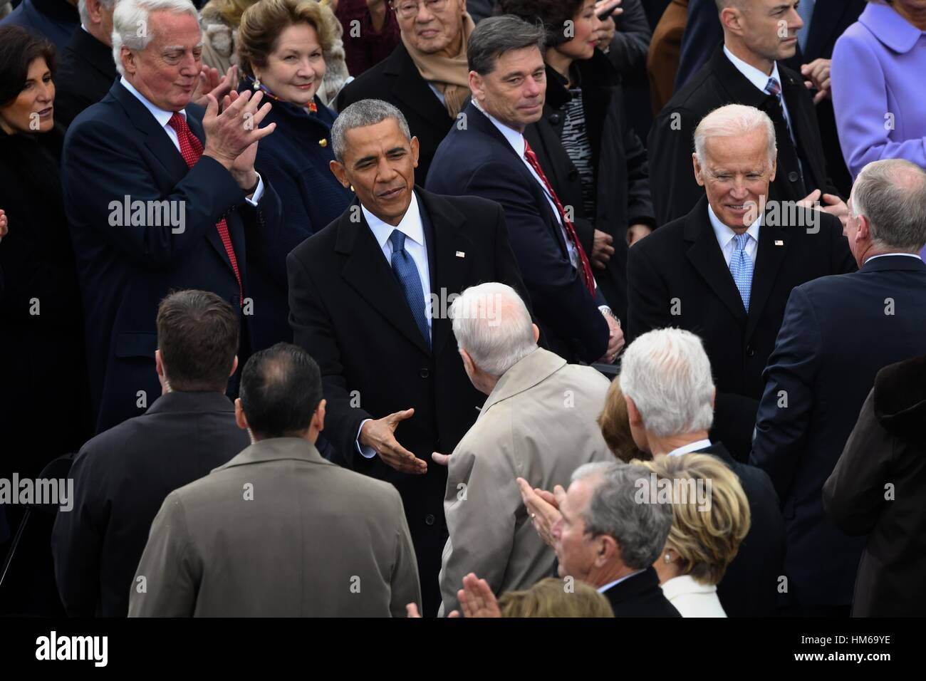 President barack obama greets former president jimmy carter after he president barack obama greets former president jimmy carter after he arrived for the president inaugural ceremony on capitol hill january 20 m4hsunfo