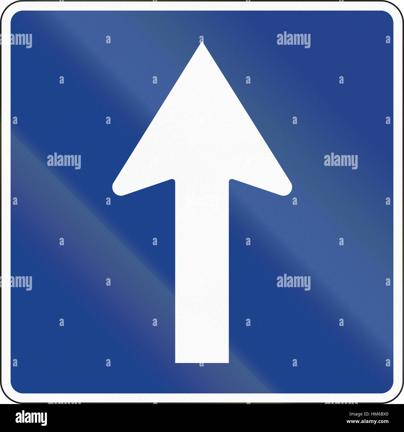 Road Sign Used In Spain One Way Road Stock Photo 132906760 Alamy