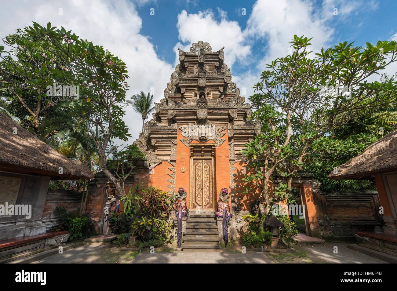 Entrance to Ubud Palace, Bali, Indonesia - Stock Image