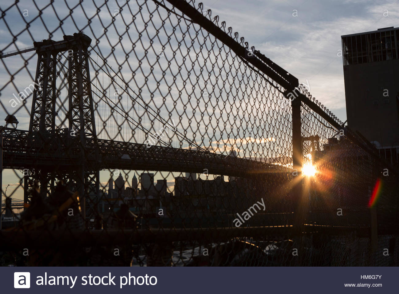 Cityscape Behind Fence Stock Photos Amp Cityscape Behind
