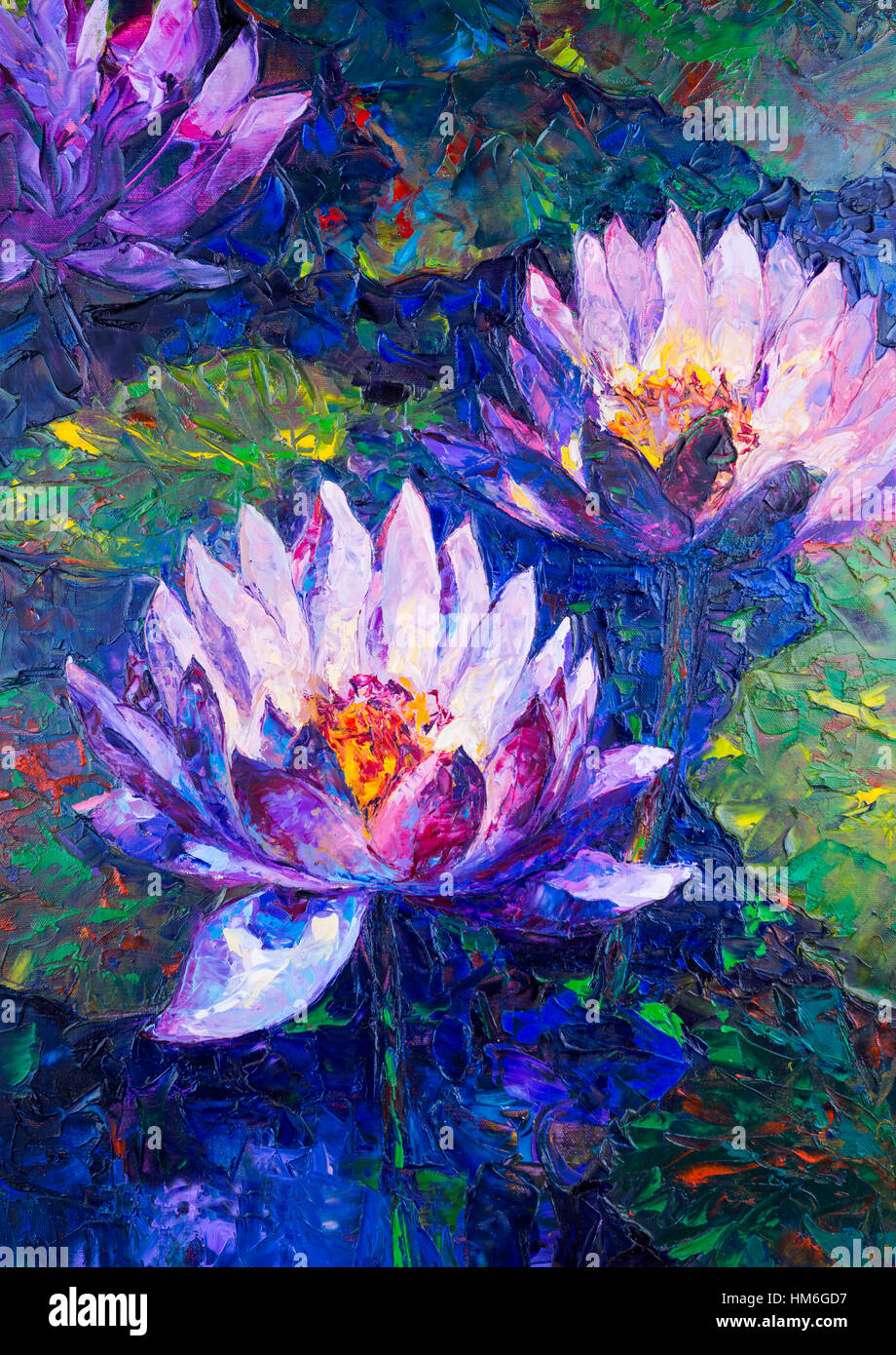 Lotus flowers paintings choice image flower decoration ideas oil painting of beautiful lotus flower stock photo 132910323 alamy oil painting of beautiful lotus flower izmirmasajfo