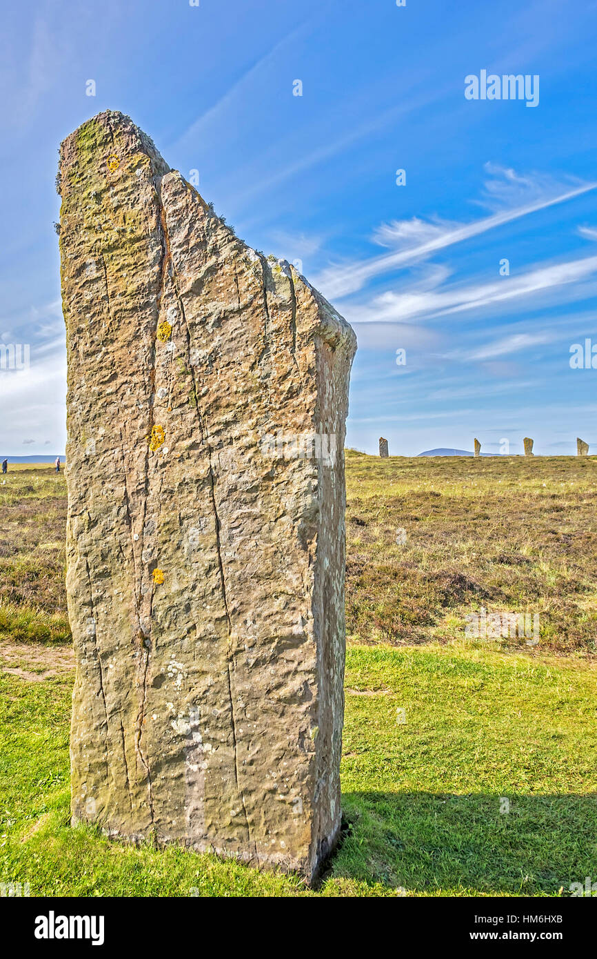 Ring Of Brodgar Orkney Islands UK - Stock Image