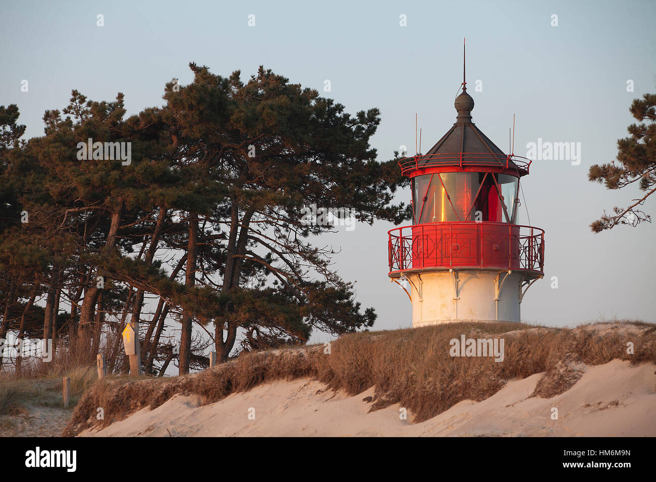Lighthouse ' Gellen ' on Hiddensee island Stock Photo