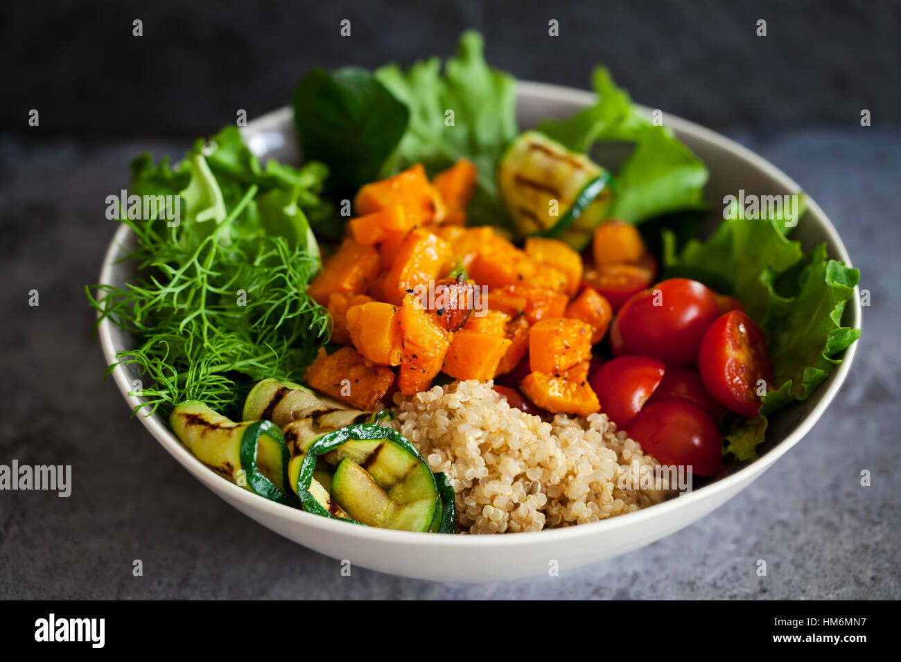 Buddha bowl with vegetables and quinoa - Stock Image